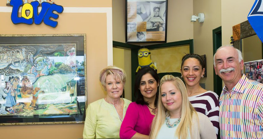 dr. richardson and dental staff in scarborough office